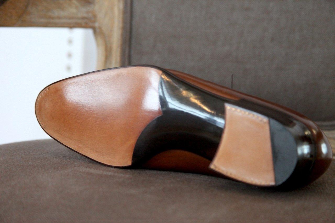 Masaru Okuyama Brown wholecut oxford sole