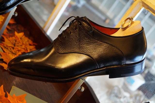 Stefano Bemer saddle shoe black