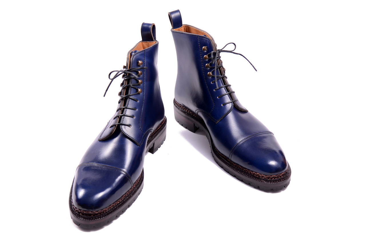 more blue boots by meermin the shoe snob