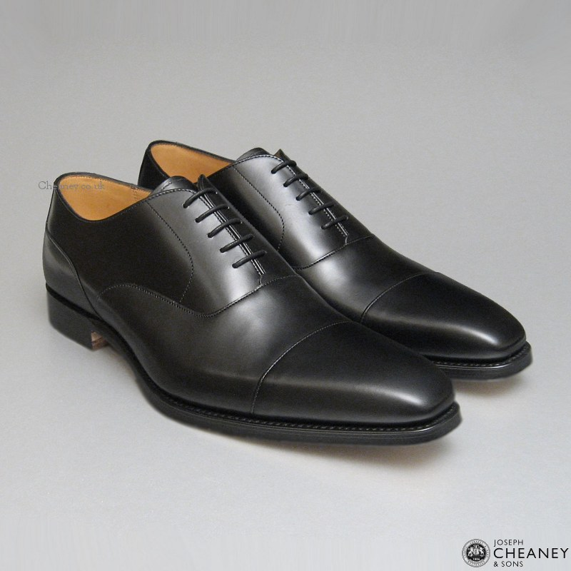 The Black Cap Toe Oxford - Your Safe