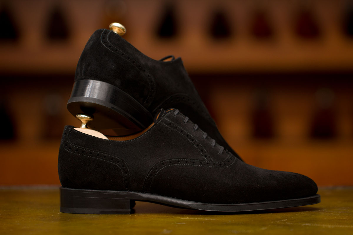 The Greenwood in Black Suede