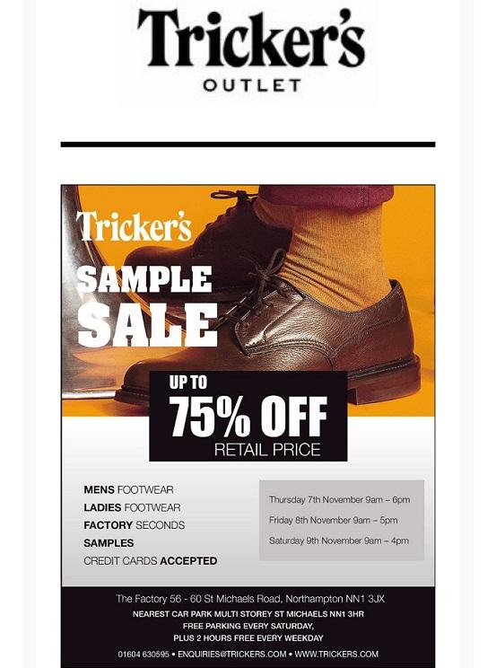 Tricker's Sample Sale - The Shoe Snob