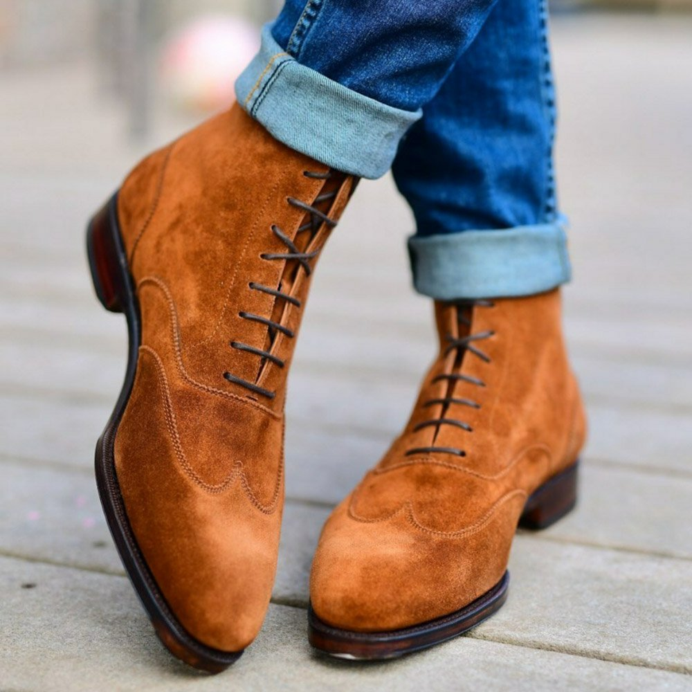 dress suede boots