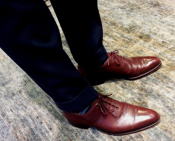 Bespoke Shoes Burgundy Shoes Burgundy Whole Cut Shoes Dress Shoes